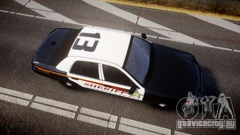 Ford Crown Victoria Sheriff [ELS] rims1 для GTA 4 вид справа