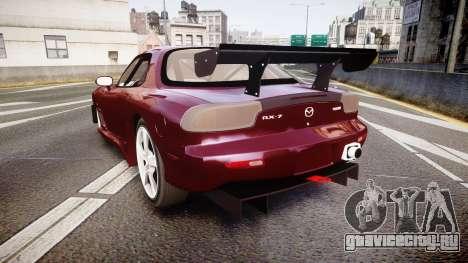 Mazda RX-7 Custom для GTA 4 вид сзади слева