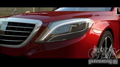 Mercedes-Benz S500 W222 для GTA 4 вид изнутри