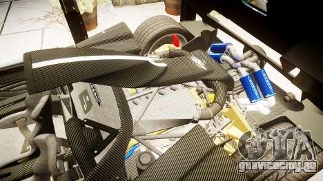 Pagani Zonda Cinque Roadster 2010 для GTA 4 вид изнутри