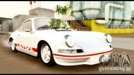 Porsche 911 Carrera 2.7RS Coupe 1973 Tunable для GTA San Andreas вид изнутри