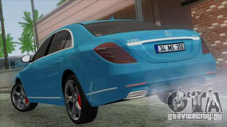 Mercedes-Benz S350 2015 Bluetec для GTA San Andreas вид слева