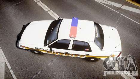 Ford Crown Victoria Sheriff Liberty [ELS] для GTA 4 вид справа