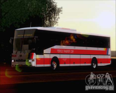 Nissan Diesel UD Peoples Transport Corporation для GTA San Andreas вид сзади слева