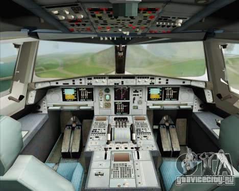 Airbus A380-800 Emirates (A6-EDH) для GTA San Andreas вид изнутри