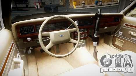 Ford LTD Crown Victoria 1987 LCPD [ELS] для GTA 4 вид сзади