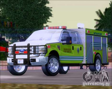 Ford F350 XLT Super Duty MDFD Batalion Chief 12 для GTA San Andreas
