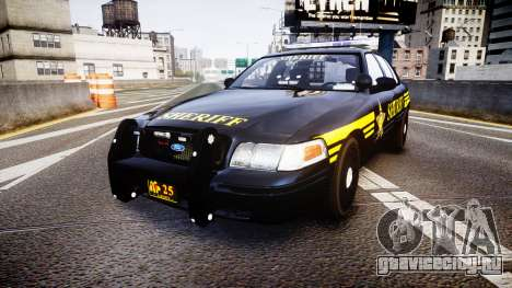 Ford Crown Victoria Sheriff [ELS] black для GTA 4