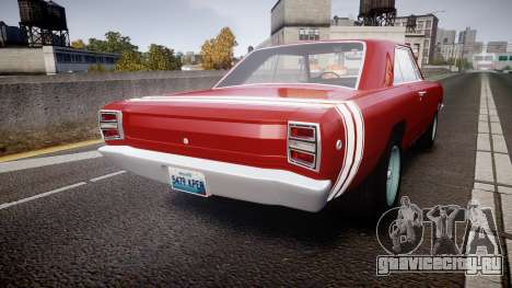 Dodge Dart HEMI Super Stock 1968 rims2 для GTA 4 вид сзади слева