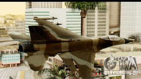 F-16 Fighter-Bomber Desert Camo для GTA San Andreas вид слева