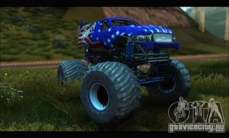 Monster The Liberator (GTA V) для GTA San Andreas вид сзади