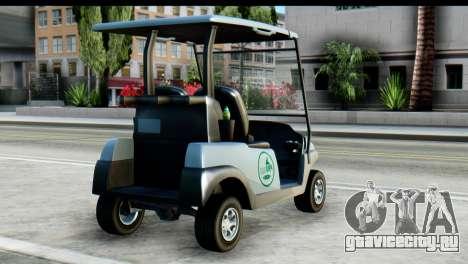 GTA 5 Caddy v2 для GTA San Andreas вид слева