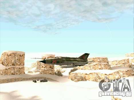 Миг 21 ВВС СССР для GTA San Andreas вид сзади слева