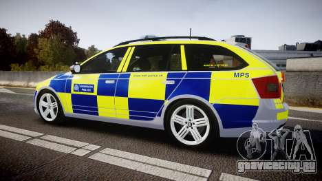 Skoda Octavia Combi vRS 2014 [ELS] Traffic Unit для GTA 4 вид слева