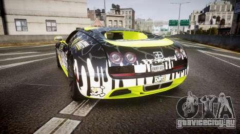 Bugatti Veyron Super Sport 2011 [EPM] Ken Block для GTA 4 вид сзади слева