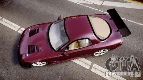Mazda RX-7 Custom для GTA 4 вид справа