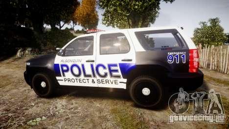 Chevrolet Tahoe 2010 Police Algonquin [ELS] для GTA 4 вид слева