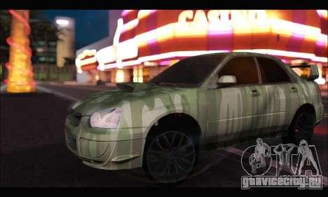 Subaru Impreza WRX Camo для GTA San Andreas вид слева