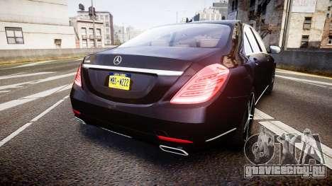 Mercedes-Benz S500 W222 для GTA 4 вид сзади слева