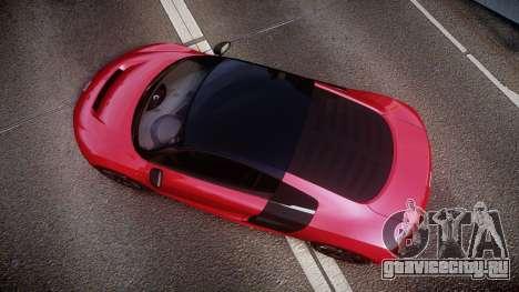 Audi R8 E-Tron 2014 dual tone для GTA 4 вид справа