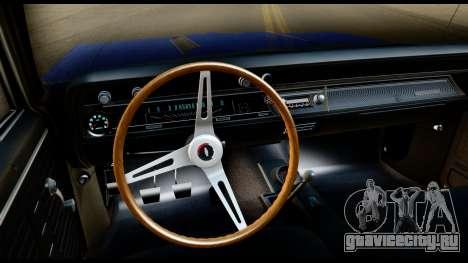 Chevrolet Chevelle SS 396 L78 Hardtop Coupe 1967 для GTA San Andreas вид изнутри