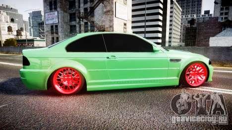 BMW M3 E46 Green Editon для GTA 4 вид слева