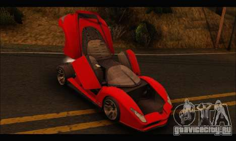 Grotti Cheetah v3 (GTA V) для GTA San Andreas вид сзади