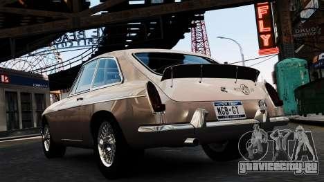 MGB GT 1965 для GTA 4 вид сзади слева