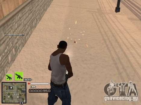 Простенький C-HUD для GTA San Andreas второй скриншот