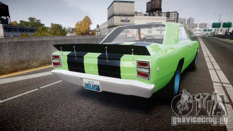 Dodge Dart HEMI Super Stock 1968 rims3 для GTA 4 вид сзади слева