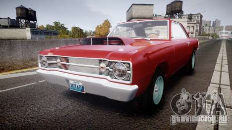 Dodge Dart HEMI Super Stock 1968 rims2 для GTA 4