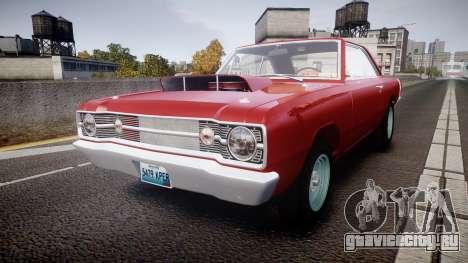 Dodge Dart HEMI Super Stock 1968 rims2 для GTA 4