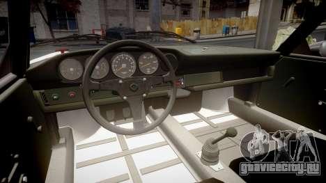 Porsche 911 Carrera RSR 3.0 1974 для GTA 4 вид изнутри
