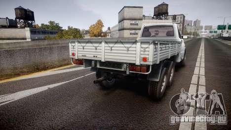 УАЗ 2360 6x6 для GTA 4 вид сзади слева
