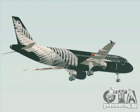 Airbus A320-200 Air New Zealand для GTA San Andreas вид справа