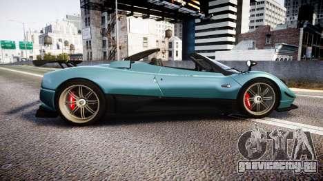Pagani Zonda Cinque Roadster 2010 для GTA 4 вид слева