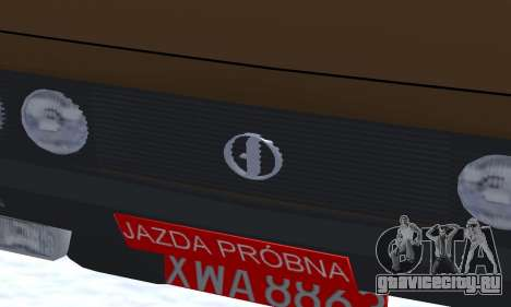 FSO Polonez 2.0X Coupe для GTA San Andreas вид изнутри