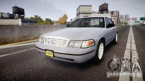 Ford Crown Victoria Unmarked Police [ELS] для GTA 4
