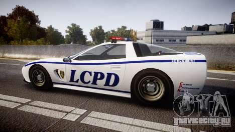 Invetero Coquette Police Interceptor [ELS] для GTA 4 вид слева