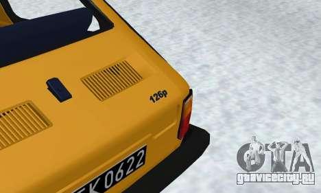 Fiat 126p FL для GTA San Andreas вид изнутри