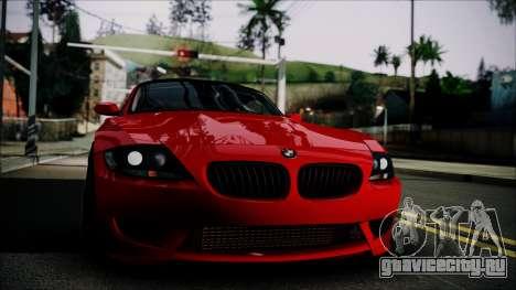 BMW Z4 M85 для GTA San Andreas вид сзади слева