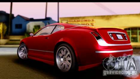 GTA 5 Enus Cognoscenti Cabrio IVF для GTA San Andreas вид сзади слева