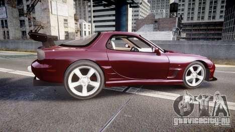 Mazda RX-7 Custom для GTA 4 вид слева