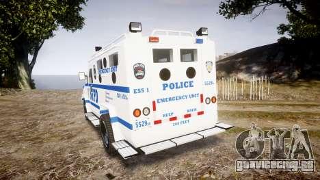 Lenco BearCat NYPD ESU [ELS] для GTA 4 вид сзади слева