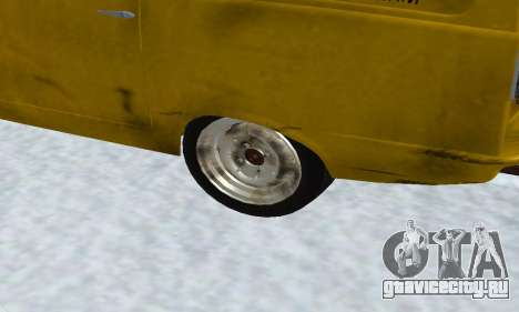Reliant Supervan Only Fools and Horses для GTA San Andreas вид изнутри