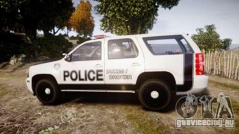 Chevrolet Tahoe 2010 Sheriff Dukes [ELS] для GTA 4 вид слева