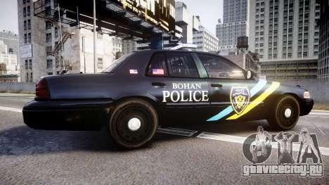 Ford Crown Victoria Sheriff Bohan [ELS] для GTA 4 вид слева