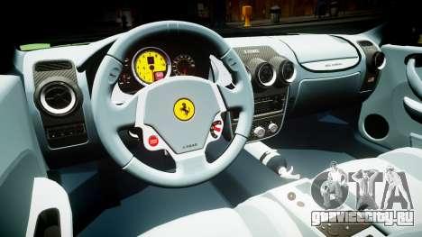 Ferrari F430 2004 для GTA 4 вид изнутри