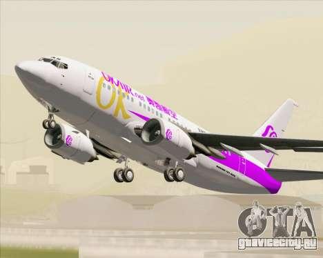Boeing 737-500 Okay Airways для GTA San Andreas вид сбоку