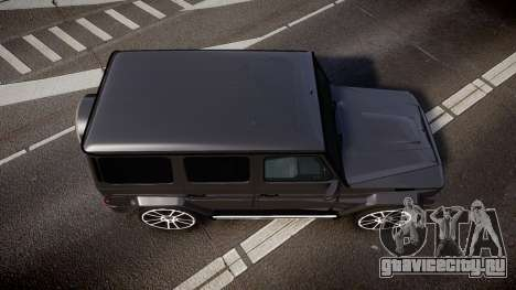 Mercedes-Benz G65 Brabus rims2 для GTA 4 вид справа